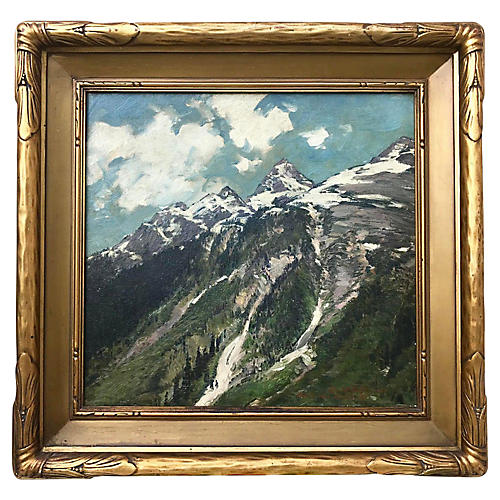 Rocky Mountains Glacier Oil by J. Breuer