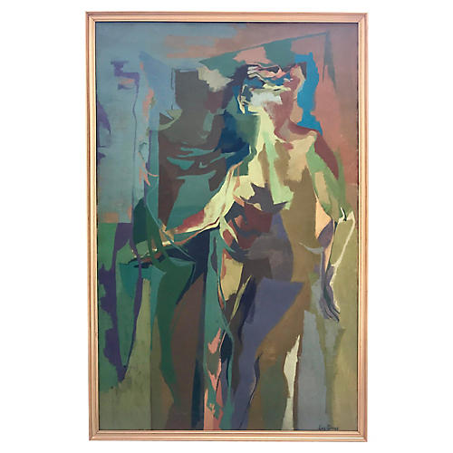 Abstract Figure Nude Lois Smiley, C.1950