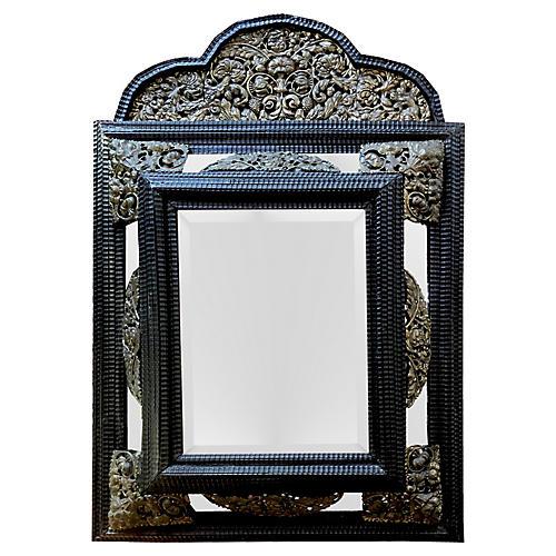 Antique Dutch Baroque Repoussé Mirror