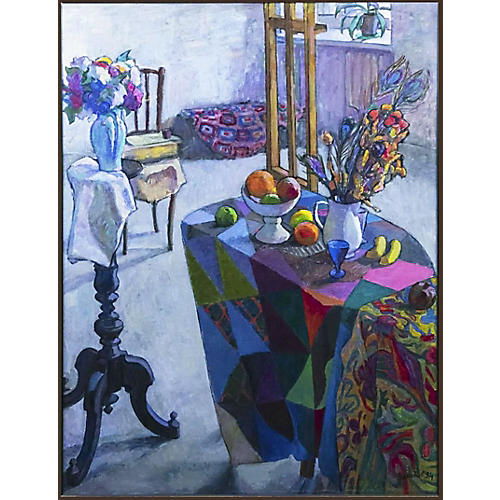 Russian Modernist Still Lifel Painting