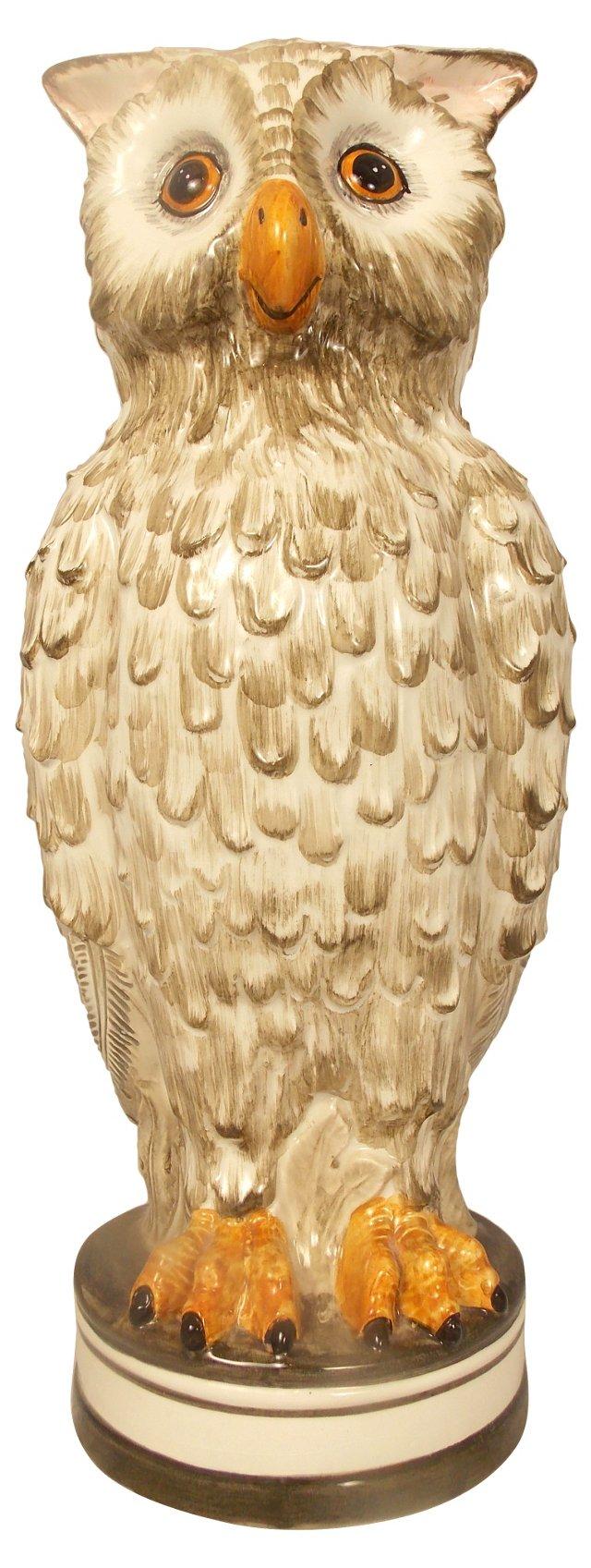 Italian Pottery Owl