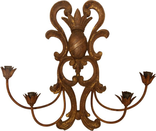 Italian 4-Arm Candle Sconce