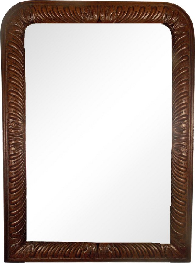 Carved Louis Philippe Mirror