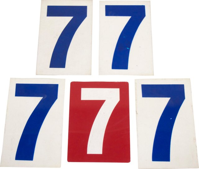 Gasoline 7 Signs, Set of 5