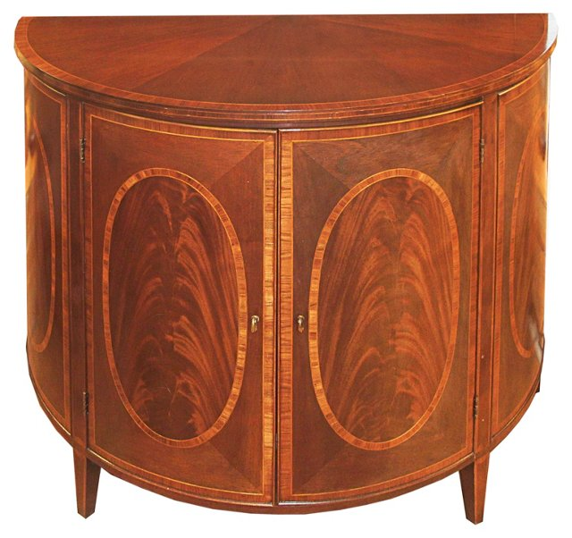 English Bow-Front  Cabinet