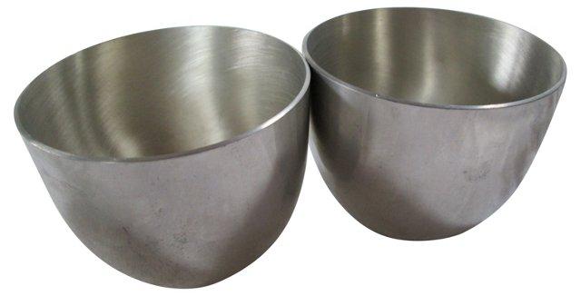 Pewter Bowls,   Pair