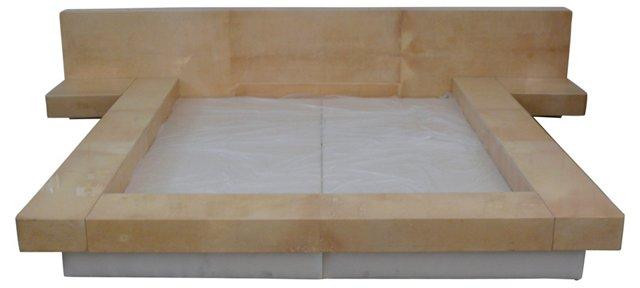 Aldo Tura Parchment Bed, Double