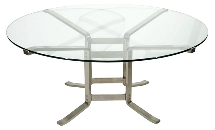 Italian Stainless Steel Dining Table