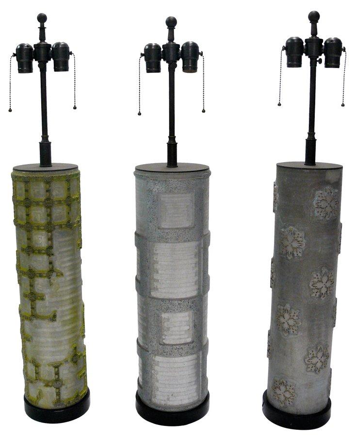 Wallpaper Roller Lamps, S/3