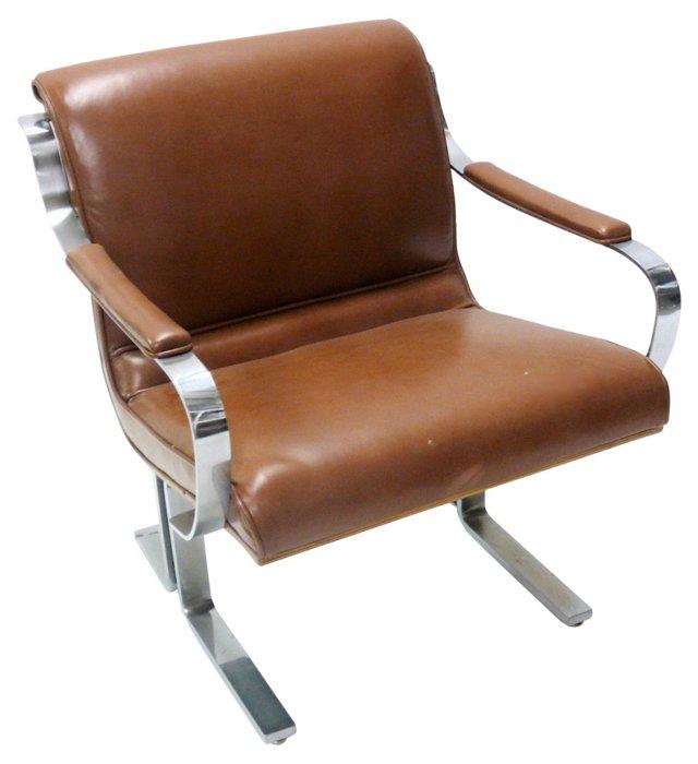 Leather & Chrome Armchair
