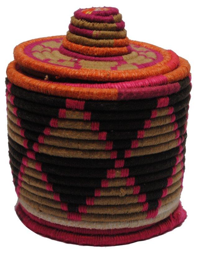 Pink Moroccan Bread Basket