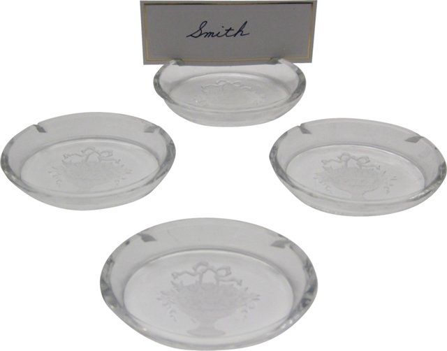 Crystal Place Card Holders, S/4
