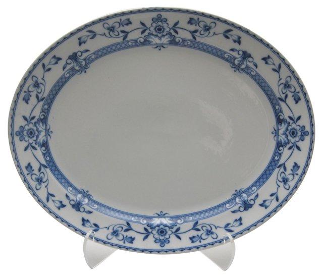Blue & White Floral Platter