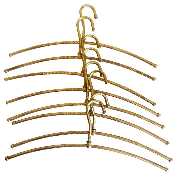 Brass Coat Hangers, S/8