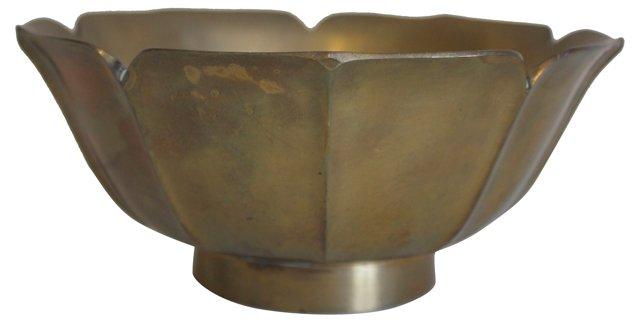 Large Brass Lotus   Bowl