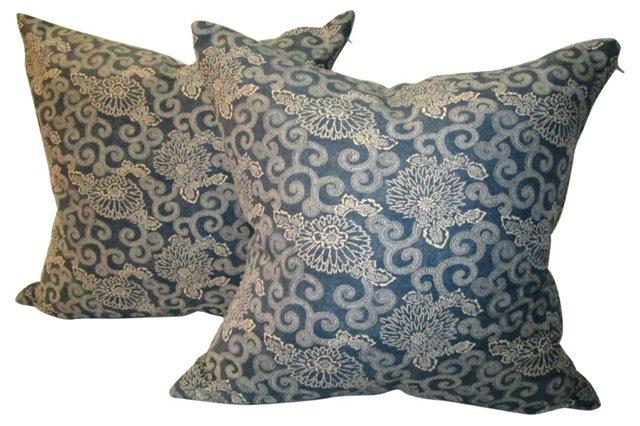 Hampton's Inspired Bennison Pillows,Pair