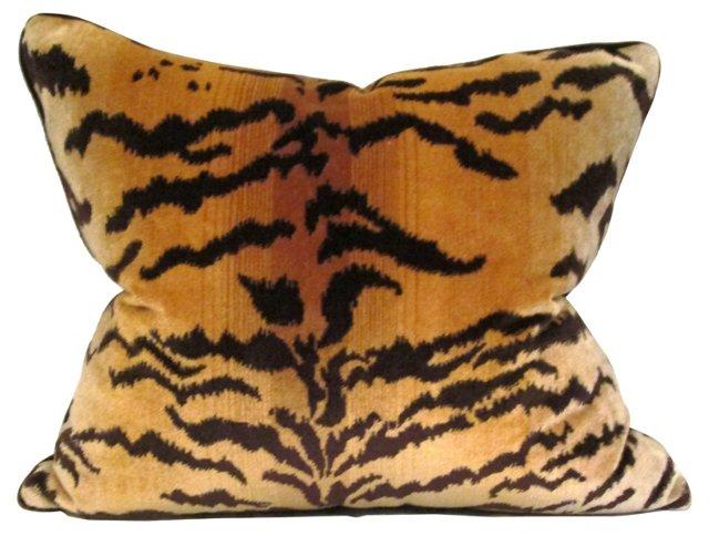 Décor de Paris Tiger-Print Pillow