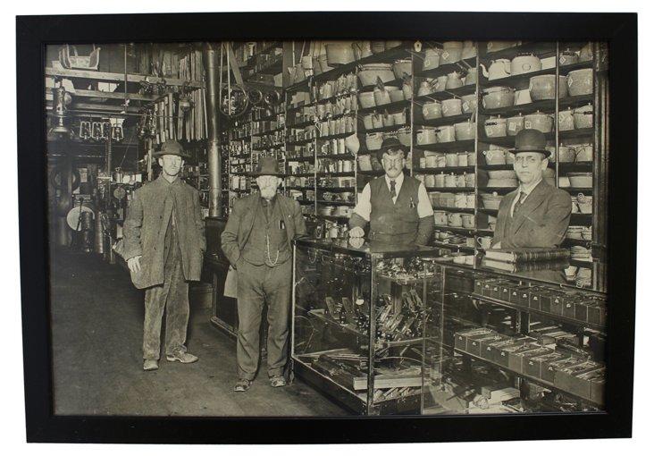 Seattle Hardware Store, 3' Antique Photo