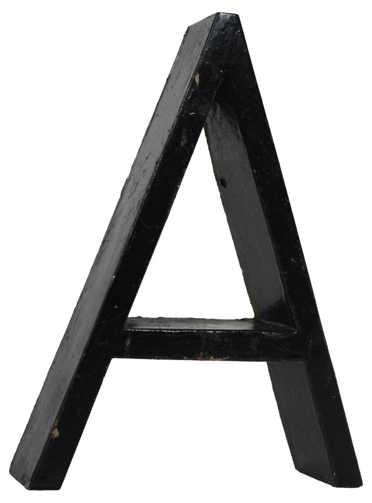 1950s Marquee Letter A