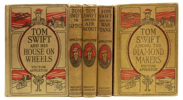 Tom Swift, 5 Vols, 1st Eds