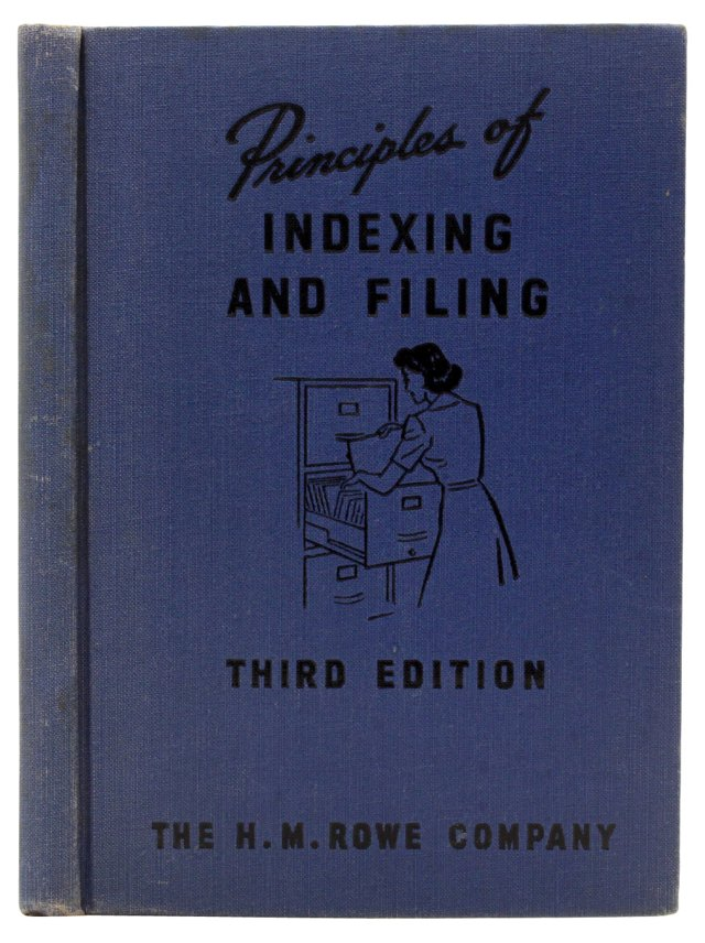 Principles of Indexing & Filing, 1951
