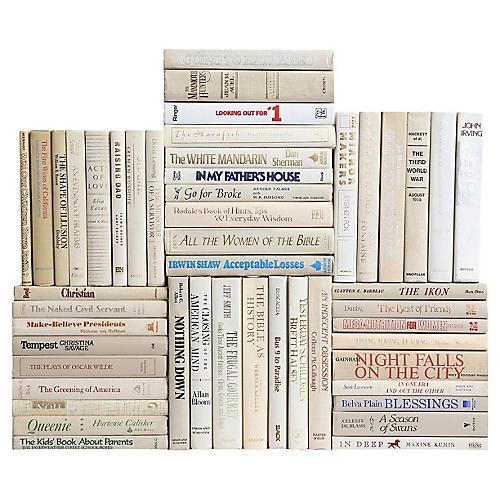 Retro Neutral Book Wall, S/50