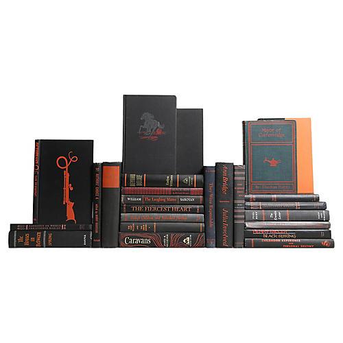 Midcentury Black & Orange Books S/25