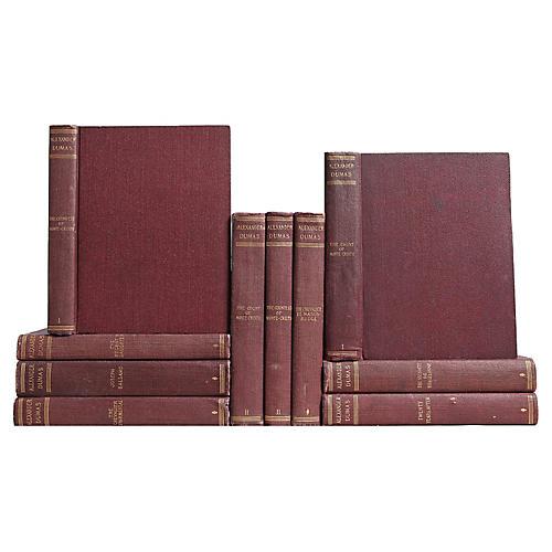 Alexander Dumas Book Set, S/10