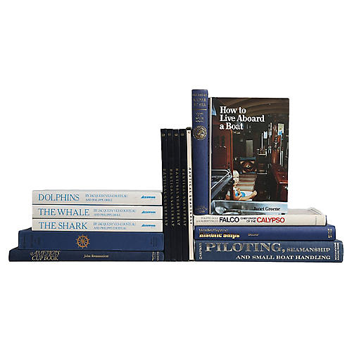 Into the Deep - Nautical Book Set, S/15