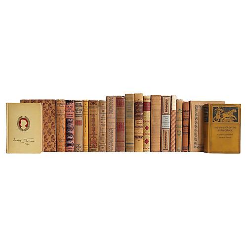 Ornate Caramel Book Set, S/20