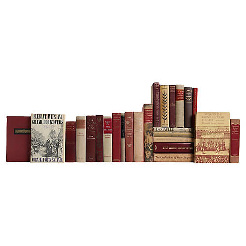 French Culture Bookshelf, S/25