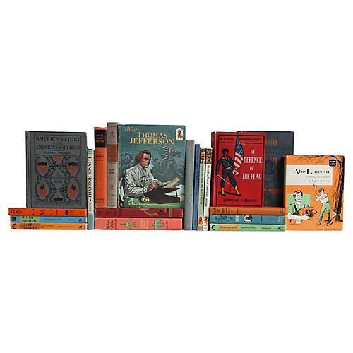 American History Book Set, S/20