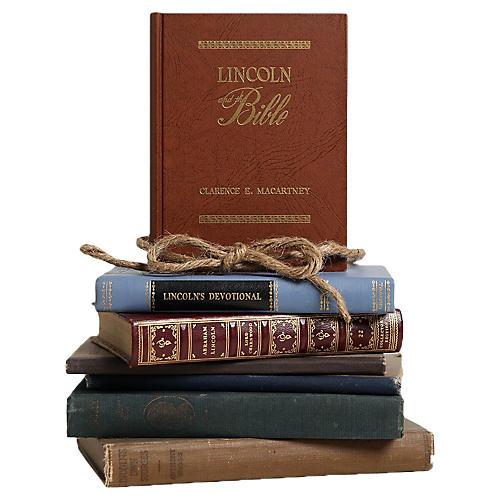 Vintage Book Set: Lincoln Lovers, S/7