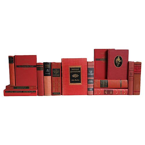 Crimson World Classics Book Set, S/15