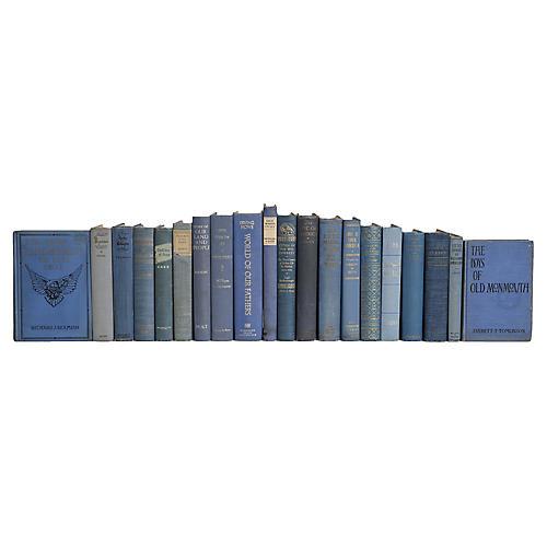 Vintage Faded Denim US History Book Set,