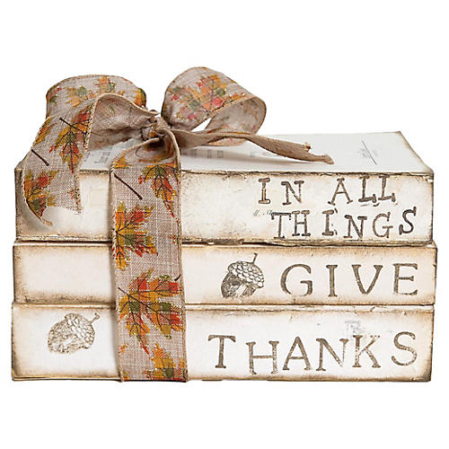 In All Things Give Thanks Gift Set-S/3