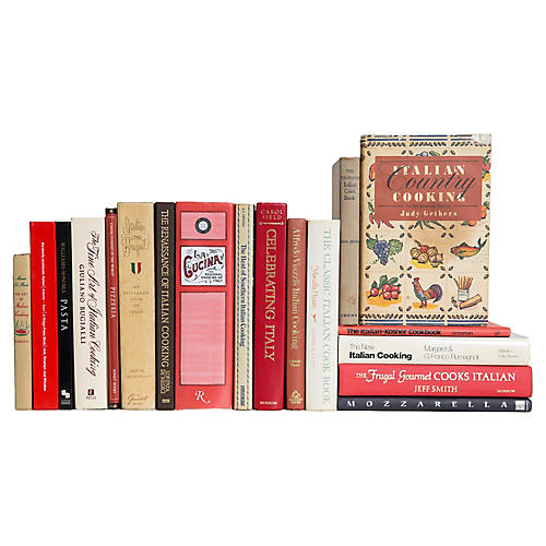 Italian Cuisine Cookbooks, S/18