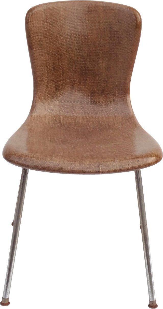 Petite Midcentury Raffia Chair