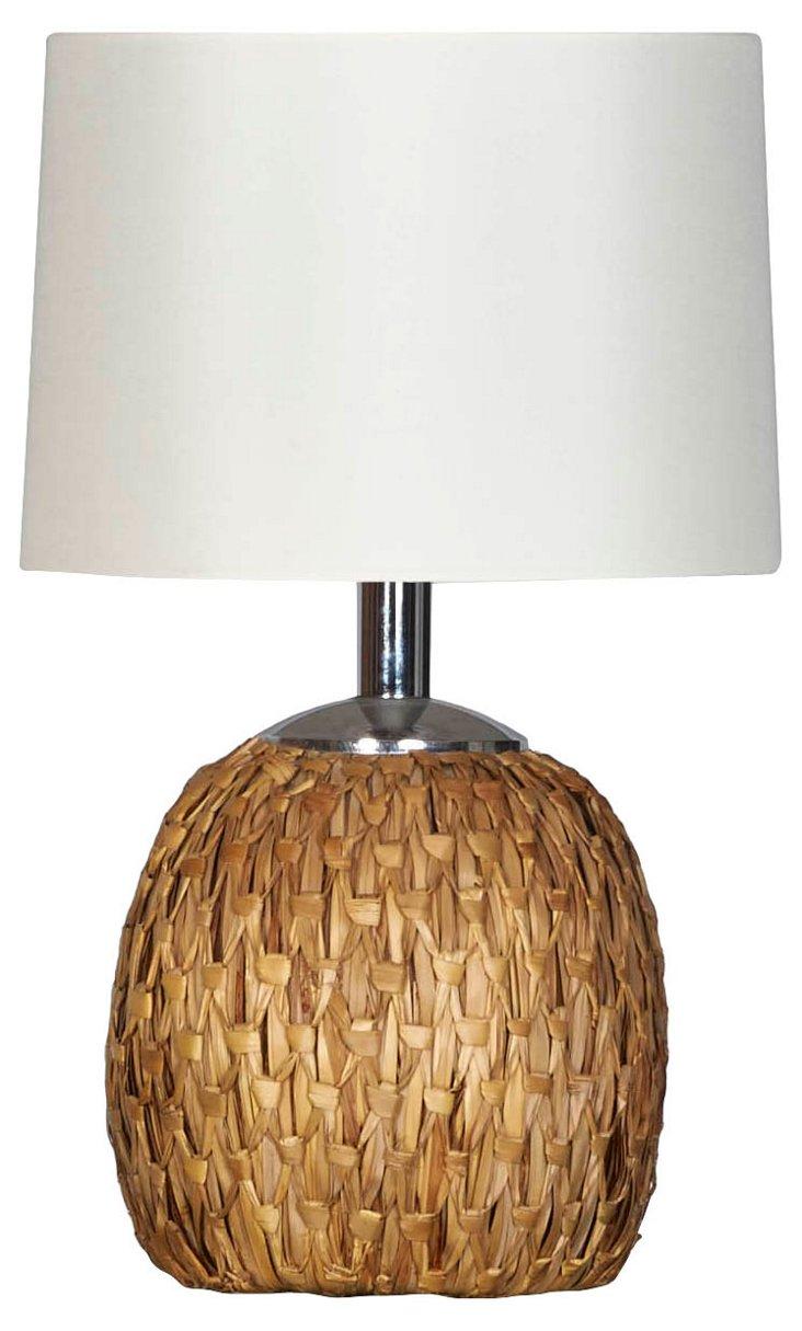 Woven Rush Lamp by Raymor