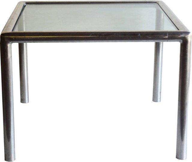 1970s Aluminum Corner Table Frame