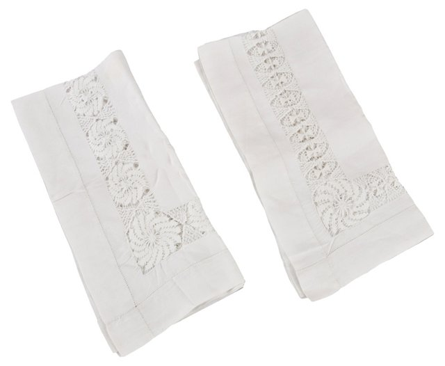 French Guest Napkins, Pair