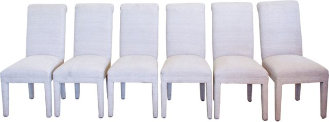 Upholstered Chairs, Set of 6