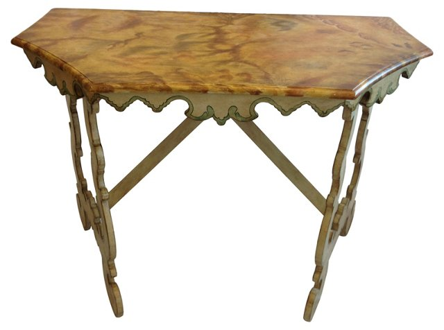 Painted  Wood Console