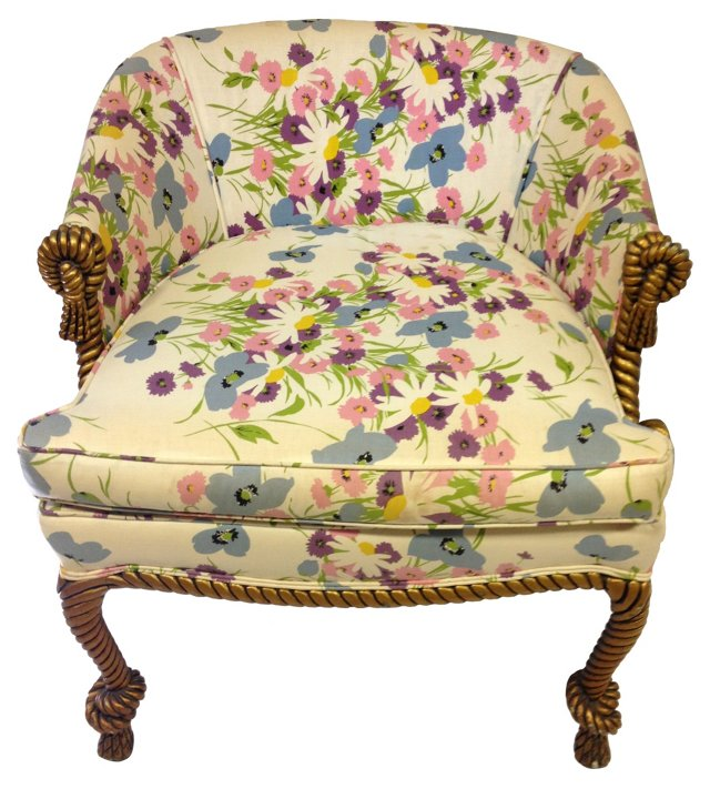 French Gilt Rope Chair