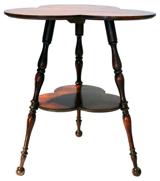 English Cloverleaf Side Table
