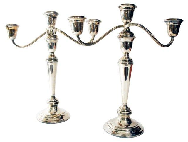 Silverplate Candelabra, Pair