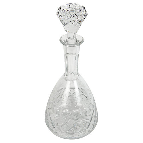 Antique French Crystal Cut Decanter