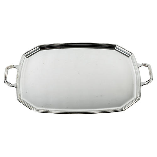 Silver-Plate Tray w/ Two Handles