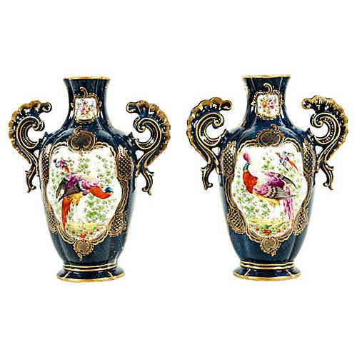 English Decorative Vases, Pair
