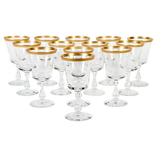 Crystal Wineglasses, S/13